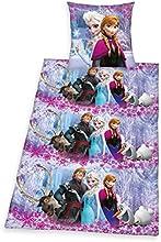 Herding 448040050412 Bettwäsche Walt Disney's Die Eiskönigin, Kopfkissenbezug: 80 x 80 cm und Bettbezug: 135 x 200 cm, 100 % Baumwolle, Renforce