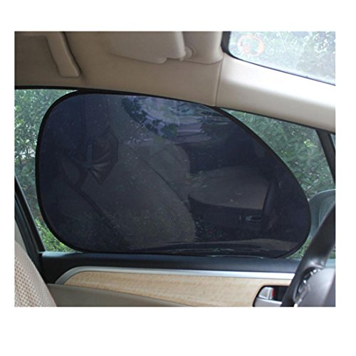 Iuhan® Fashion 2Pcs Car Rear Window Side Sun Shade Cover Block Static Cling Visor Shield Screen (Purple Window Shade In Auto compare prices)