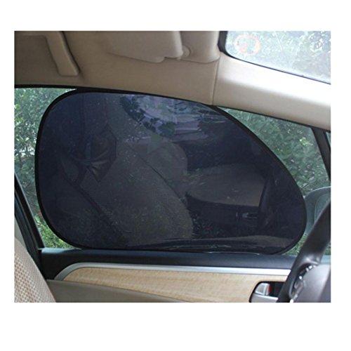 Iuhan® Fashion 2Pcs Car Rear Window Side Sun Shade Cover Block Static Cling Visor Shield Screen (Car Sun Visor Sticker compare prices)