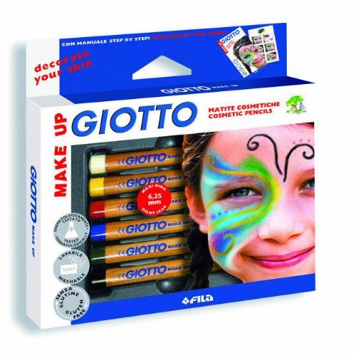 LYRA 4702 00 Kosmetikstifte Giotto Make Up Basic 6 Kinderschminkstifte mit Anleitung