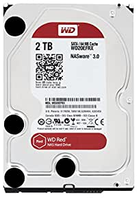 WD Red 2TB NAS Hard Drive: 1 to 8-bay RAID Hard Drive: 3.5-inch SATA 6 Gb/s, IntelliPower, 64MB Cache WD20EFRX