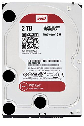 Western Digital WD20EFRX Red 2TB Interne Festplatte für NAS-Storage (8,9 cm (3,5 Zoll), 5400rpm, SATA III)