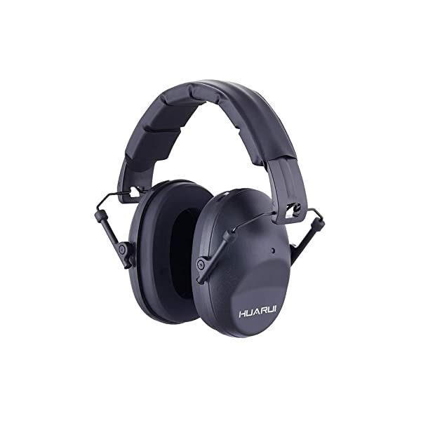 NoiseCancellingEarMuffs for Shooting Hunting, Adjustable Shooting Ear Muffs,Shooters Ear Protection Safety Ear Muffs, Lightweight Ear Muffs Noise Protection HUARUI (Black) (Color: Black)