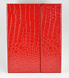 TenMile(TM) Crocodile Alligator Design Removable Bluetooth Keyboard Case and Stand For iPad 2 3 and 4th Gen (RED)