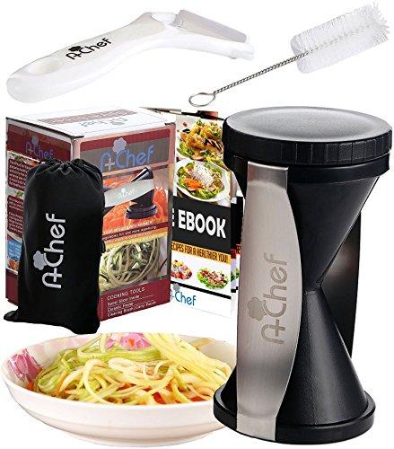 awardpedia apluschef premium spiral slicer bundle vegetable spiralizer zucchini noodle. Black Bedroom Furniture Sets. Home Design Ideas