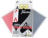 Fournier Poker Vision 100% plastic Poker cards - single deck