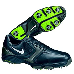2013 Nike Lunar Saddle Mens Golf Shoes ** New Out** Black/Silver/Grey/volt 9 UK