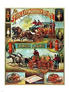 Fire Extinguisher Mfg. Co., Advertising Poster, ca. 1890 Poster (18.00 x 24.00)