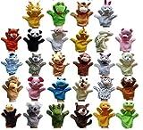 28 piezas de la marioneta de mano 28 animales de peluche para niños y bebés