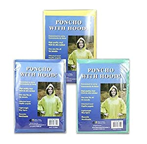 ONE Size Fits All Adult Poncho - Assorted Color