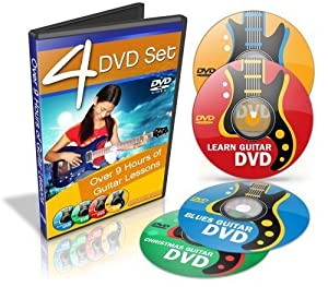 9 hours guitar lessons learn how to play guitar 4 dvd combo set evan o 39 hara. Black Bedroom Furniture Sets. Home Design Ideas