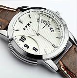 【P&B】EYKI メンズ 腕時計/防水 カレンダー機能 メンズ レディース カジュアル ウォッチ スポーツ (こげ茶/ダークブラウン)