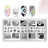 Summer Fruit Nail Art Stamping Template Tropical Punch Pattern Rectangle Image Plate Stamping Polish Needed BP-A08 (Color: BP-A08)
