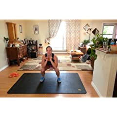 Buy Large Exercise Mat & Large Yoga Mat | Pogamat XXL - 78 Long X 48 Wide X 6.5mm Thick. Longer - Wider - More Durable... by Tamaga Fitness