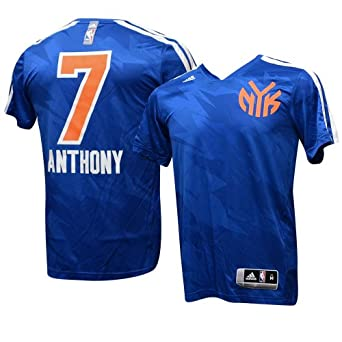 New York Knicks 2013 Adidas Carmelo Anthony #7 Gametime Shooting Shirt M by adidas