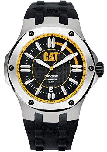 CAT A1.141.21.127 - Reloj analógico de cuarzo para hombre, correa de goma color negro