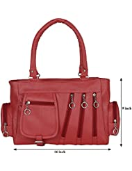 Kacey::Kacey Red Shoulder Bag::Kacey Shoulder Bag::Plain Shoulder Bag::Women Shoulder Bag::PU Shoulder Bag::Casual...