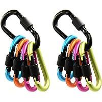 Generic Aluminum D-ring Locking Carabiner Keychain Spring Clip Lock Carabiner Hook Outdoor Camping Equipment - B01HM8PAIO