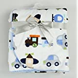 New Baby Warm Blankets Newborn Soft Double Layer Coral Fleece Carter Blanket (Air Transport))