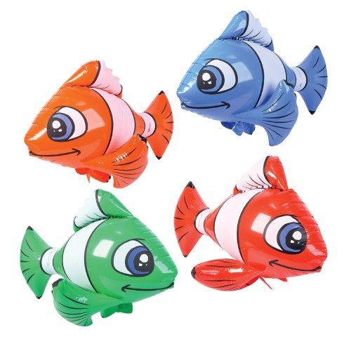 Rhode Island Novelties 225374 Inflatable Tropical Fish Various - color may vary