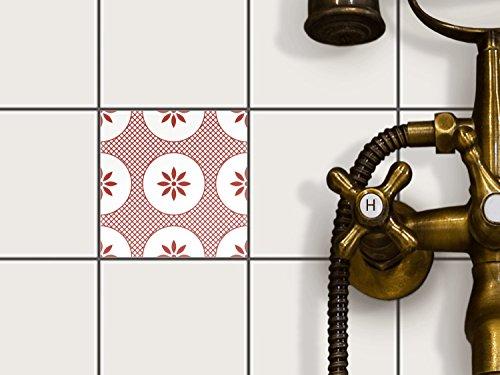 Carrelage autocollant 20 x 15 cm 1 x 1 design ornament - Carrelage salle de bain autocollant ...