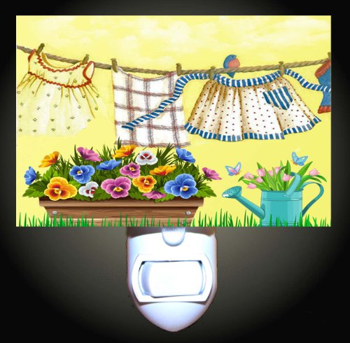 Hanging Out The Laundry Decorative Night Light front-985674