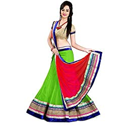 Aahira Green Net Semi Stiched Fancy Lahenga Choli Material