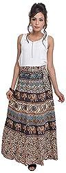 Soundarya Women's Cotton Wrap Skirt (6050, Long)