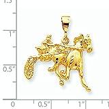 10k Gold HORSE RACING Charm