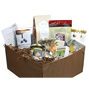 Alternative Fruit Gift Box/ Basket - With Gourmet Treats/snacks