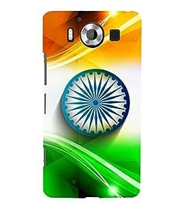 printtech Indian Flag Tricolor HD Back Case Cover for Nokia Lumia 950 / Microsoft Lumia 950