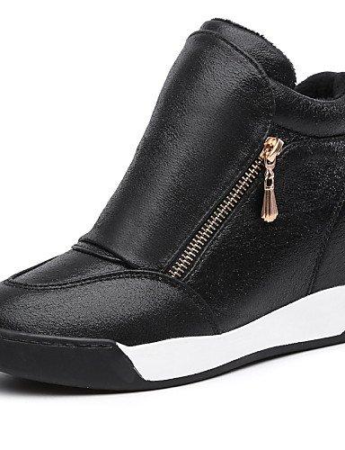 Scarpe da donna in Similpelle Tacco a cuneo cunei / Piattaforma / Liane Fashion Sneakers mocassini / Esterni / Ufficio & Carriera,rosso,US7.5 / EU38 / UK5.5 / CN38