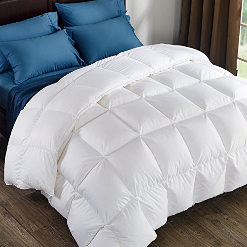 For Sale! Puredown 800 Fill Power White Goose Down Comforter 700 Thread Count 100% Egyptian Cotton F...