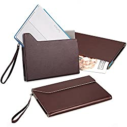 Surface Pro 3 / Pro 4 Case /iPad Pro -Exact [EXPRESS Series] - PU Leather Envelope Sleeve Case for Microsoft Surface Pro 3 (2014)/ Surface Pro 4 (2015) /Apple iPad Pro (2015) Brown