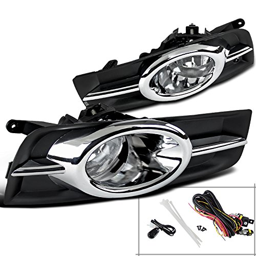 Spec-D Tuning LF-CRU09COEM-V2-HZ Chevy Cruze Chrome Front Bumper Driving Fog Lights Kit w/ Switch (Body Kit Chevy Cruze compare prices)
