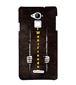 Fuson Premium Back Case Cover I want Freedom With Brown Background Degined For Coolpad Note 3
