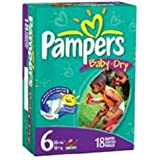 Baby Diaper Pampers Tab Closure Size 6 Disposable Heavy Absorbency By Cardinal