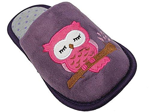 Foster Footwear - Retro aperto da ragazza' Unisex per bambini donna Ragazzi , viola (Purple), M (38 EU-39 EU)