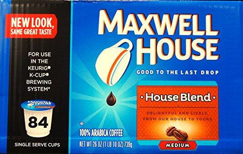 Maxwell House, House Blend Medium 84 K-Cup Arabica Coffee,26 Oz