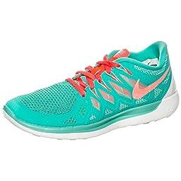 Nike Free 5.0 Running Shoes Current Model turquoise / orange / white, Size EU:38.5