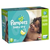 Pampers Baby Dry Diapers Size 5 Economy Pack Plus 160 Count, 160.000 Count
