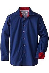 Isaac Mizrahi Big Boys' Boy's Two-Tone Polka Dot Shirt