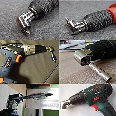 Angle Drill JTENG® 105 °Angle Extension 1/4inch 6mm Hex Drill Bit Screwdriver Socket Holder Adaptor