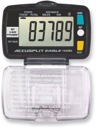 Cheap ACCUSPLIT Eagle AE1640M4 Step and Distance Pedometer (AE1640M4)