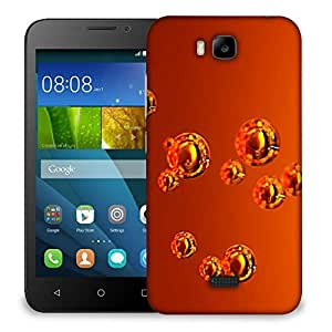 Snoogg Abstract Orange Bubbles Designer Protective Back Case Cover For HUAWEI HONOR 7