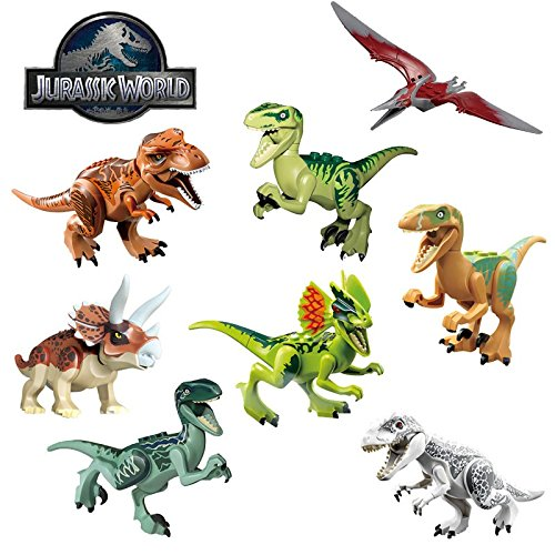 Jurassic Park World Dinosaur MiniFigures Toy Super Heroes Series Action Figure Building Blocks Set Compatible Lego (Super Hero Squad Video Game compare prices)