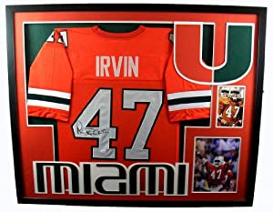Michael Irvin Framed Jersey Signed JSA COA Autographed Miami Hurricanes
