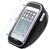 FOXNOV 5.5'' Bike Bag Phone Holder with Headphone Extension Cable for iPhone 6 6Plus 5S 5 4S Samsung Galaxy S3 S4 Note HTC One