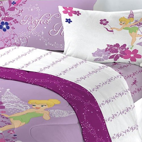 Disney Tinkerbell Powder Purple Twin Bedding Set