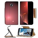 MSD Premium Motorola Google Nexus 6 Flip Pu Leather Wallet Case IMAGE ID 20640136 Digital Fractal on Black
